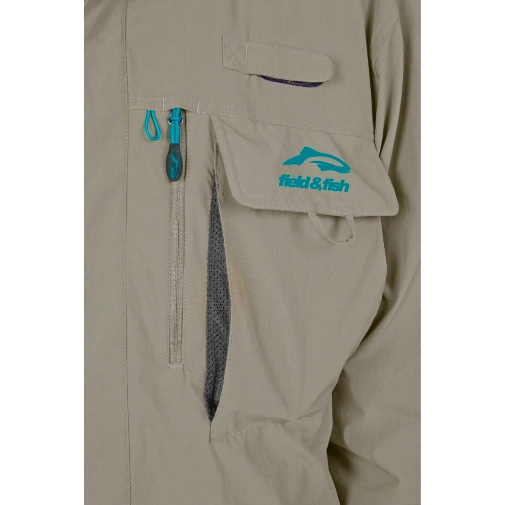Chemise Guide Stretch 4 poches Tabac