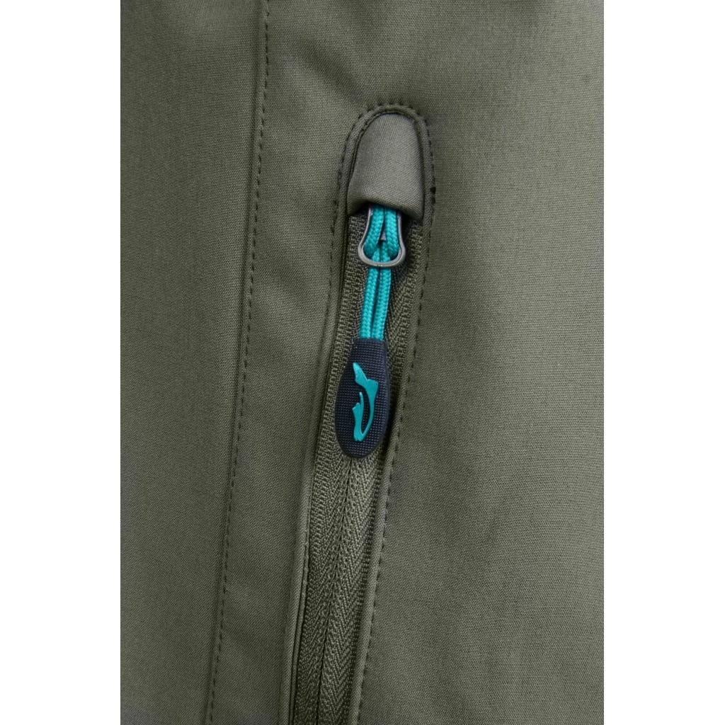 Softshell veste de protection pêche kaki